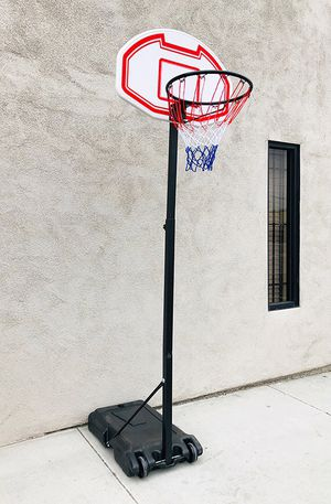 """(New in box) $45 Kids Junior Sports Basketball Hoop 28x19"""" Backboard, Adjustable Rim Height 5' to 7' for Sale in Whittier, CA"""