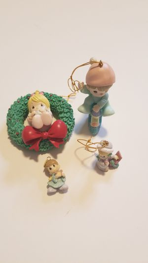 4 Precious Moments Christmas Tree Ornaments for Sale in Portland, OR