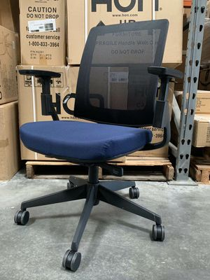 New in box HON Lota model H2281 full adjustment recline mesh back office chair in Navy Cushion Seat armrest forward up and down MSRP $753 for Sale in Whittier, CA