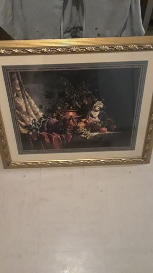 Home interior berries and cherub picture for Sale in Greenville, MS