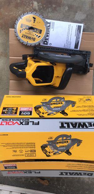 "New Dewalt FlexVolt 60V Max 7-1/4"" Cordless Worm Drive Saw (Bare Tool) # DCS577 for Sale in Fremont, CA"
