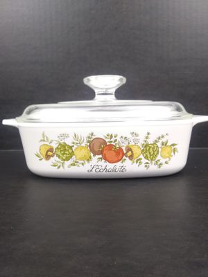 Rare Corning Ware L'echalote A-1-B French Spice of Life 1 qt quart dish w/ lid vintage Spice O' Life. for Sale in Chandler, AZ