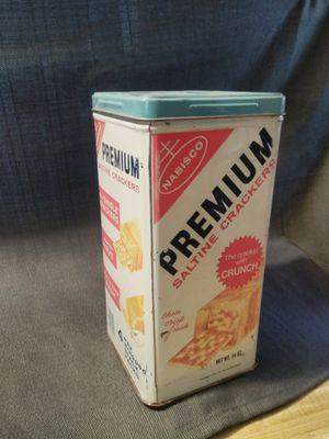 Used, Vintage Nabisco Premium Saltine Crackers Tin Can for Sale for sale  Oak Glen, CA