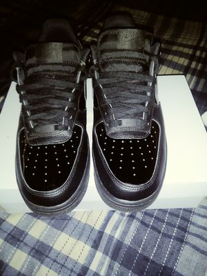 Size 9.5 All black leather/patent AF1 for Sale in Pittsburgh, PA