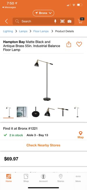 Black Industrial Floor Lamp for Sale in The Bronx, NY