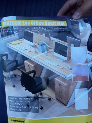 Plastic office chair mats for Sale in Santa Maria, CA