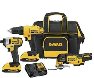 DeWalt 3-piece drill driver set 20v with charger and two batterys for Sale in Del Valle, TX