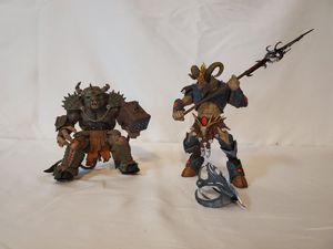 "2008 Warriors of the Zodiac Series 1 ""Aries & Taurus"" Figures (Set of 2) McFarlane Toys for Sale in Gilbert, AZ"