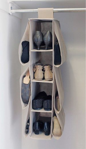 New in box closet storage organizer shoe purse easy to attach or install for Sale in Baldwin Park, CA