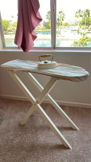 Wooden kids ironing board with iron and cover for Sale in Amarillo, TX
