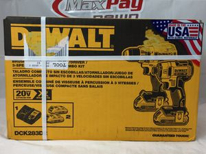 Dewalt (DCO283D2) Brushless Compact Drill/Driver/3 Speed Impact Combo Kit (MXP013054/55) for Sale in Lakeland, FL