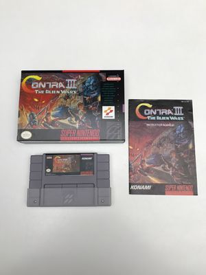 Contra III The Alien Wars Super Nintendo SNES for Sale in Snohomish, WA