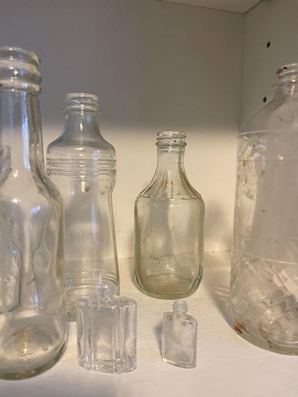 12 Vintage Bottles/Jars