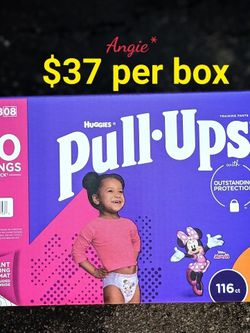 Pull Ups Size 3-4t Girl Large Box for Sale in Long Beach,  CA