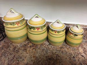 4 canisters set with lids for Sale in Franconia, VA