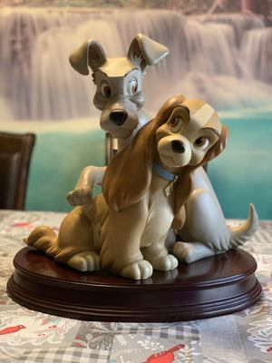 Disney Lady and the Tramp anniversary big statue figurine figure for Sale in Las Vegas, NV