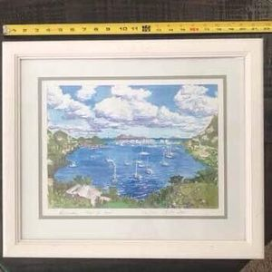 Framed Oyster Pond Limited Edition Print 2001 just $15 for Sale in Port St. Lucie, FL
