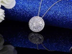 Women real 925 starling silver Luxury 2.25CT Natural White Sapphire diamond Round Necklace Earring Set for Woman for Sale in March Air Reserve Base, CA