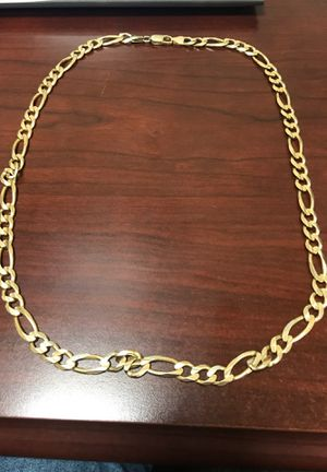 14K men Figaro Chain Italy 61.2grams for Sale in Freeport, NY