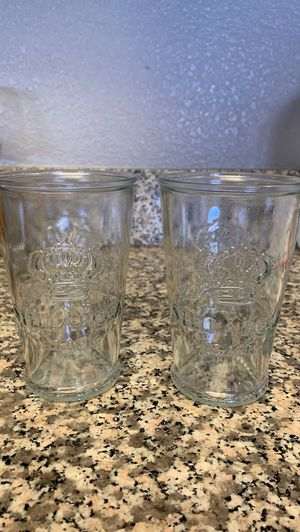 Stella Rosa black collectible wine glasses for Sale in Las Vegas, NV