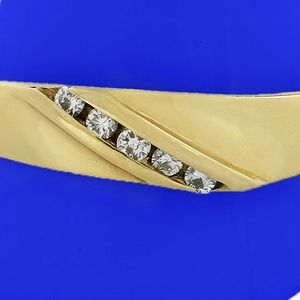 6984 DIAMOND RING MENS WEDDING BAND 14K GOLD 0.15CT 3.90 GRAMS for Sale in Costa Mesa, CA