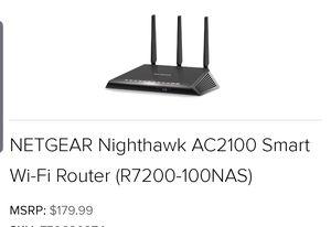Netgear smart wireless wifi router $160obo for Sale in Burnham, IL