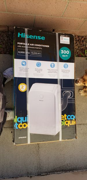 Hisense 300sq ft quick cold portable air conditioner for Sale in Downey, CA