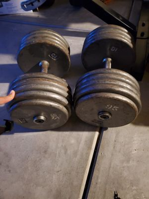95 lbs dumbells for Sale in Newman, CA