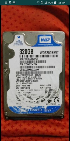 Western Digital 320gb internal HDD for Sale in Ontario, CA