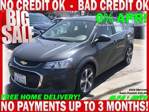 2018 Chevy sonic premiere Chevrolete clean title gray automatic bad credit finance car dealer lease uber lyft for Sale in Long Beach, CA