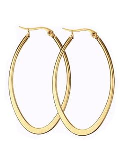 """Gold Plated """"U"""" Shaped Titanium Drop Earrings for Sale in Mount Clare,  WV"""