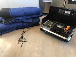 Camping grill and sleeping bags! for Sale in San Francisco, CA
