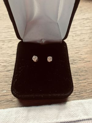 Diamond earrings- Brilliant Round with twist backs for Sale in Gresham, OR