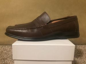 CALVIN KLEIN BROWN LEATHER PENNY LOAFERS oxford derby cap toe chukka boots dress shoes gucci gh bass polo Ralph Lauren allen edmonds for Sale in Glendale, AZ
