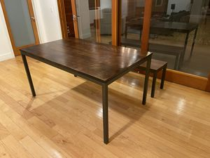 West Elm Box Frame Dining Table and Bench for Sale in Los Angeles, CA