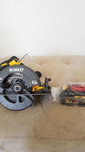 Dewalt flexvolt circular saw with 1 flexvolt 60vmax 6ah battery included. All brand new. for Sale in El Cajon, CA