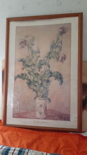 Copy of Claude Monet purple poppies for Sale in Fort Wayne, IN
