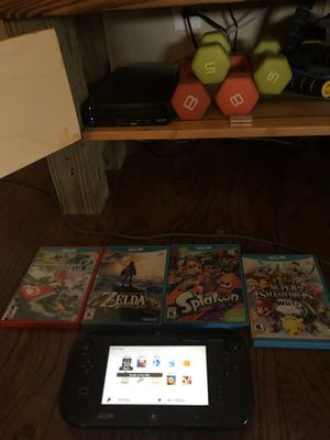 Wii U and 4 Games: Zelda, Mario Kart, Splatoon, and Super Smash Bros for Sale in Brandon, MS