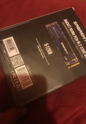 Sabrent rocket NVMe PCLe m.2 2280 ssd 512gb for Sale in Chicago, IL