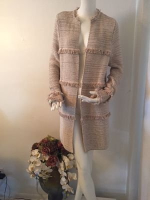 Beautiful Tan Chico's Sweater Coat for Sale in Lauderhill, FL