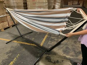 Brand New 450lb Capacity Hammock with Stand and Carry Case for Sale in Walnut, CA