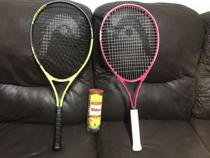 Brand new head tennis rackets & 1 can of unopened balls. for Sale in Beaverton, OR
