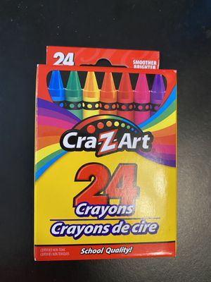 CraZArt 24 crayons for Sale in Ithaca, NY