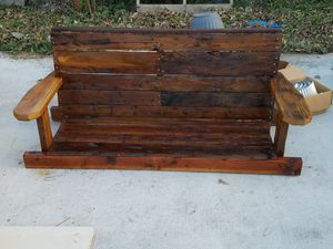 100 year old reclaimed lumber porch swing for Sale in TX, US