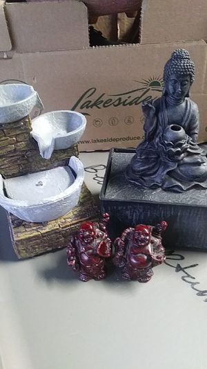 2 battery operated fountains and 2 Buddha statues for Sale in Davenport, FL