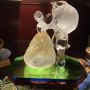 Beauty & the Beast - Lead Crystal Figurine by Arribas - Walt Disney World for Sale in Chicago, IL