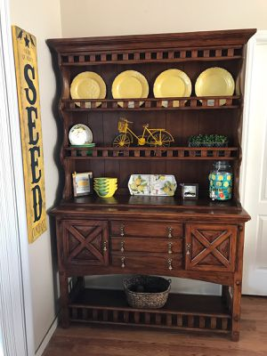 Farmhouse style hutch and buffet for Sale in Weeki Wachee, FL