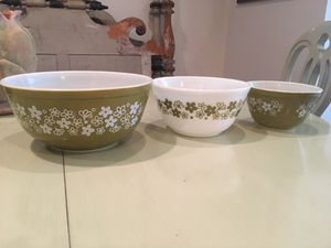 3 Vintage Pyrex by Corning bowls for Sale in Washington, DC