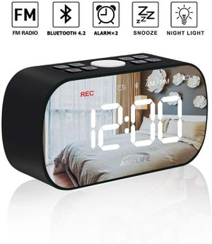 AMZLIFE Alarm Clock Radio Wireless Bluetooth Speaker Night Light for Sale in Los Angeles, CA