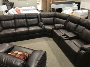 Gin rummy mocha sectional for Sale in Highland, UT